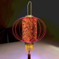 chinese red lantern model