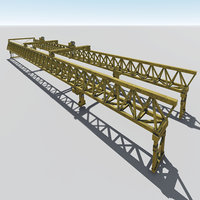 3D launching gantry model