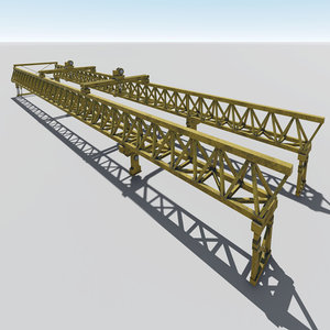 3D launching gantry model