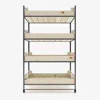 Supermarket - Wooden Retail Shelf