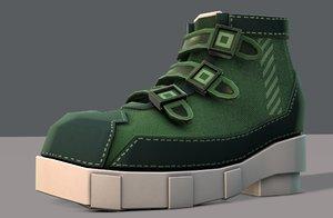 shoes cartoonv15 character cartoon model