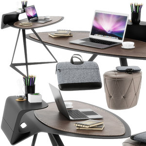 3D storm desk set cattelan model