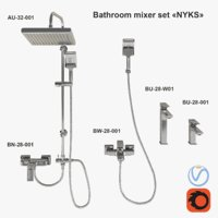 3D bathroom mixer set nyks