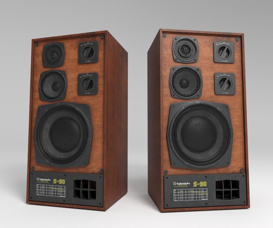 acoustic s-90 3D model