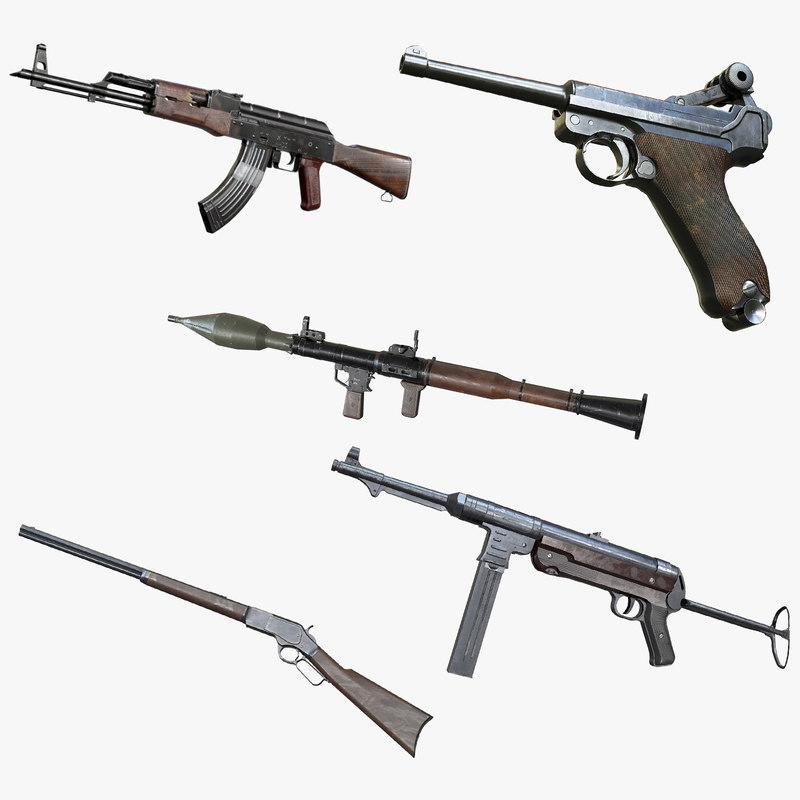 3D aaa weapons vol 1 model