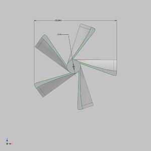 impeller blades air 3D model