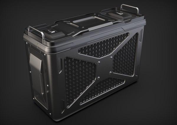 3D doom sci-fi crate box