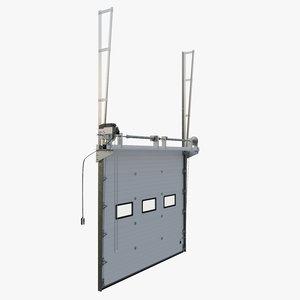 3D vertical sectional garage door model