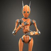 Worker Bot Orange