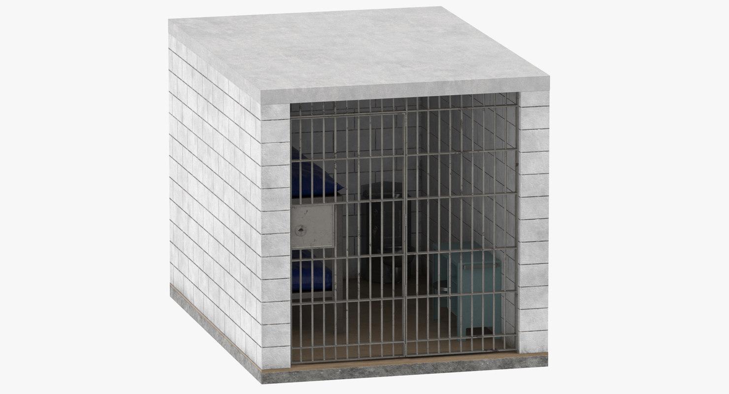 jail cell 02 3D model