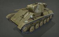 3D tank t-70 model