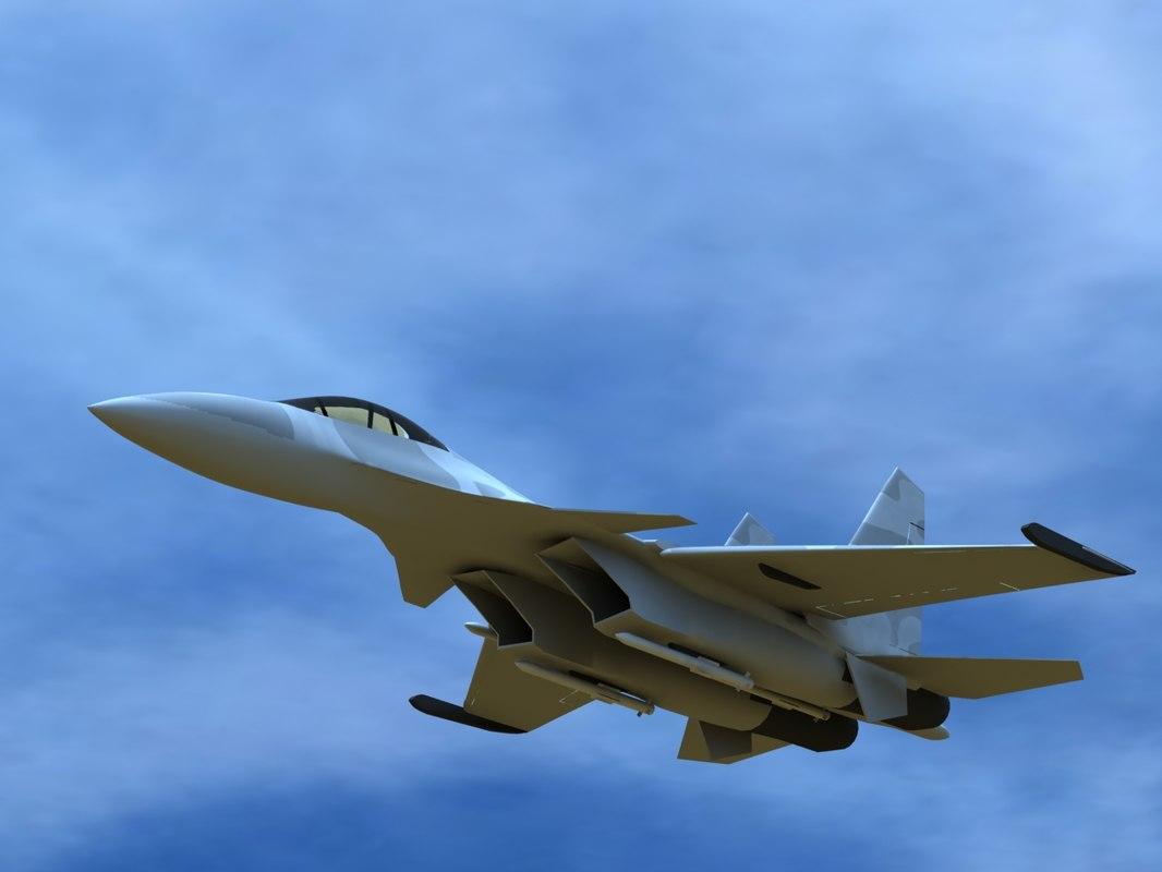 sukhoi su-35 3D model
