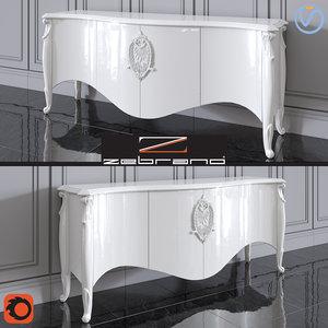 3D console zebrano casa emily