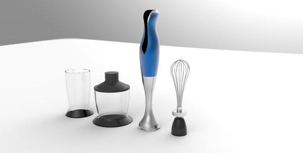 design hand blender 3D