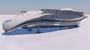 aerodynamic spacecraft 3D model