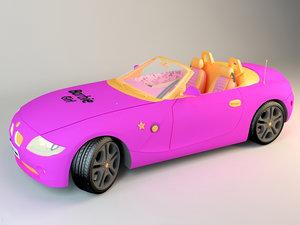 barbie car 3D
