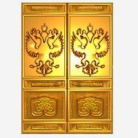 golden russian door 3D model