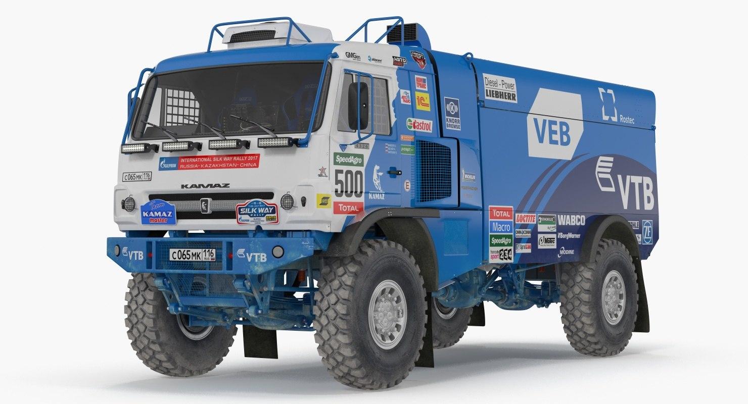 3D kamaz dakar racing truck model