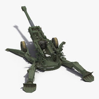 3D m777 howitzer 155mm battle