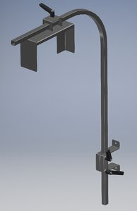 3D model stainless steel support