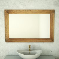 wooden frame mirror 3D