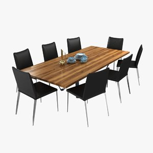 3D table chairs asti dining