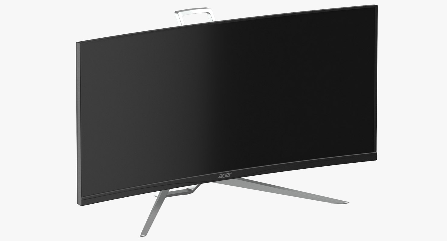 acer ultrawide qhd monitor 3D model