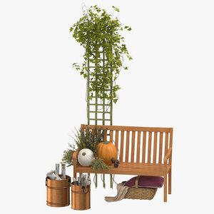 3D model patio decor set 03