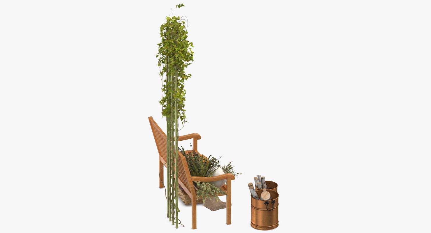 3D model patio decor set 03