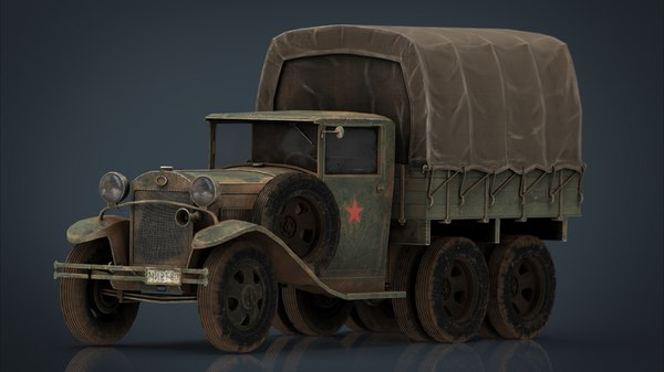 3D gaz aaa cargo truck