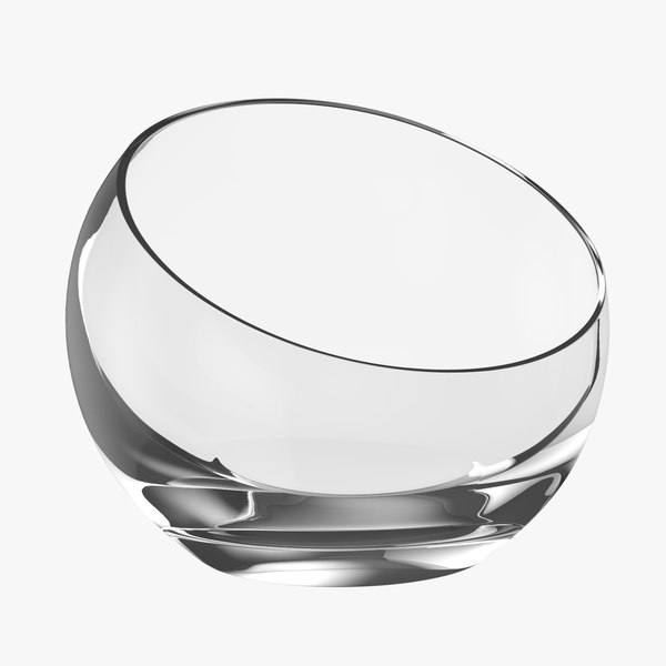3D glass plant bowl