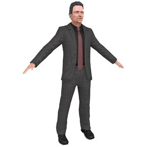 christopher walken 3D model