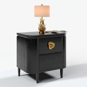 3D model briallen nightstand longleaf table lamp