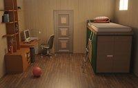 3D interior student room model