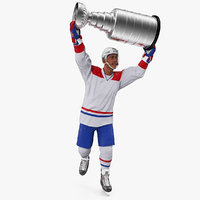 3D hockey player stanley cup