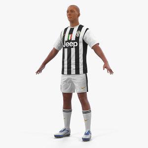 soccer football player juventus 3D