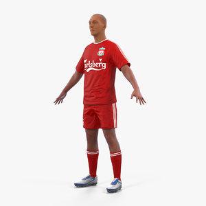 soccer football player liverpool 3D model