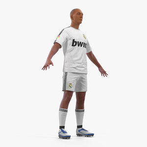 3D model soccer football player real