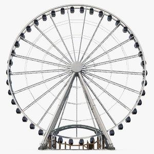 3D seattle great ferris wheel