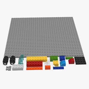 3D model lego bricks pieces
