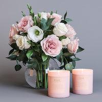 flowers candles 3D model