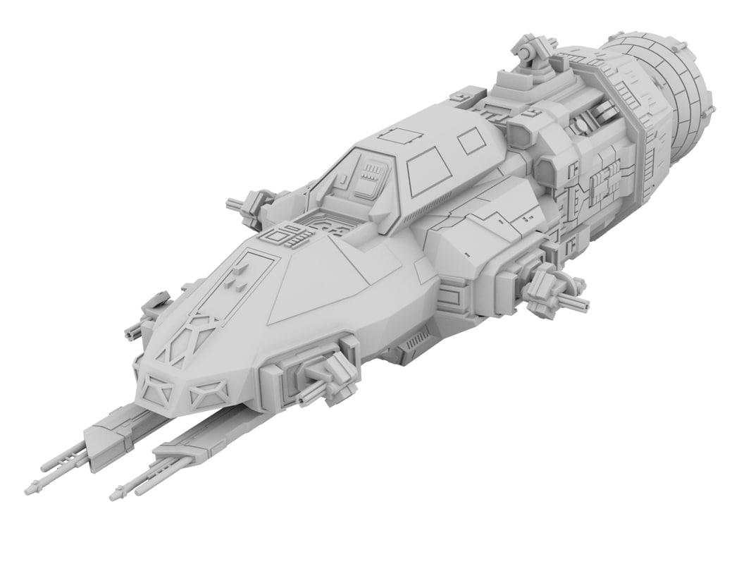 3D model rocinante expanse