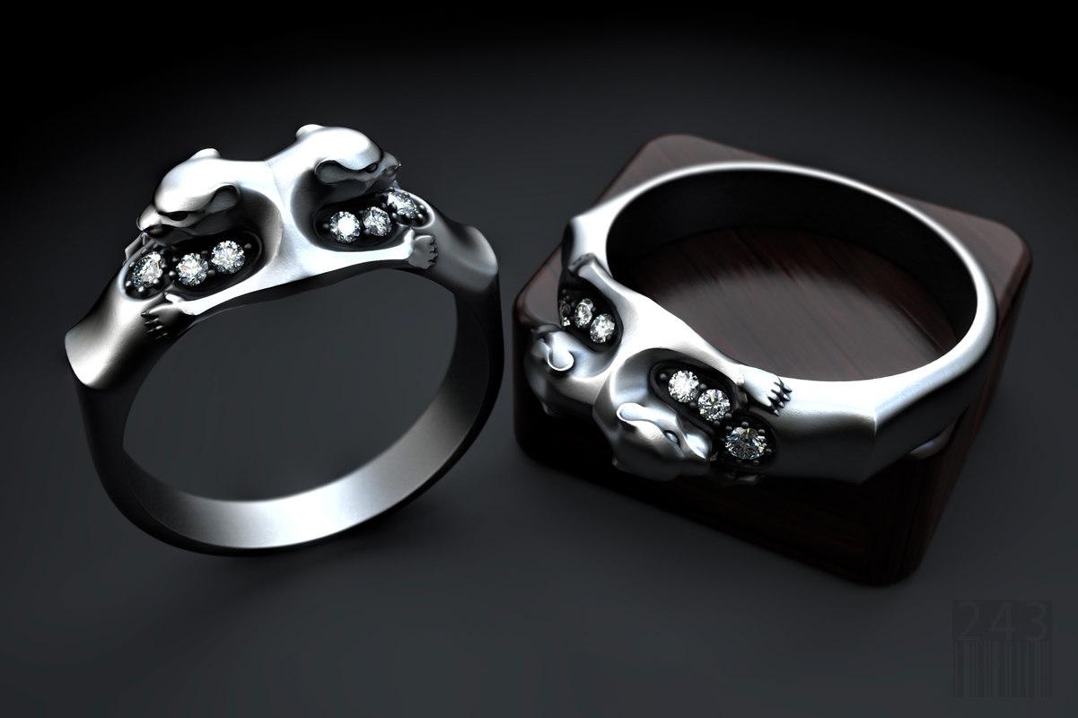 3D panther ring
