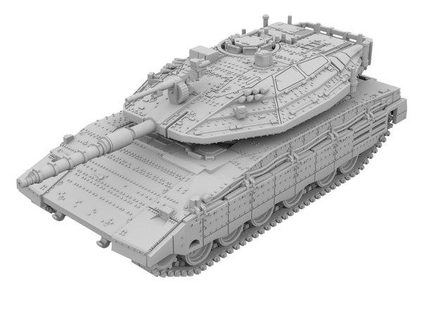 3D model merkava mk4 tank