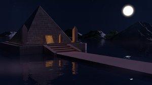 moel egyptian pyramid model