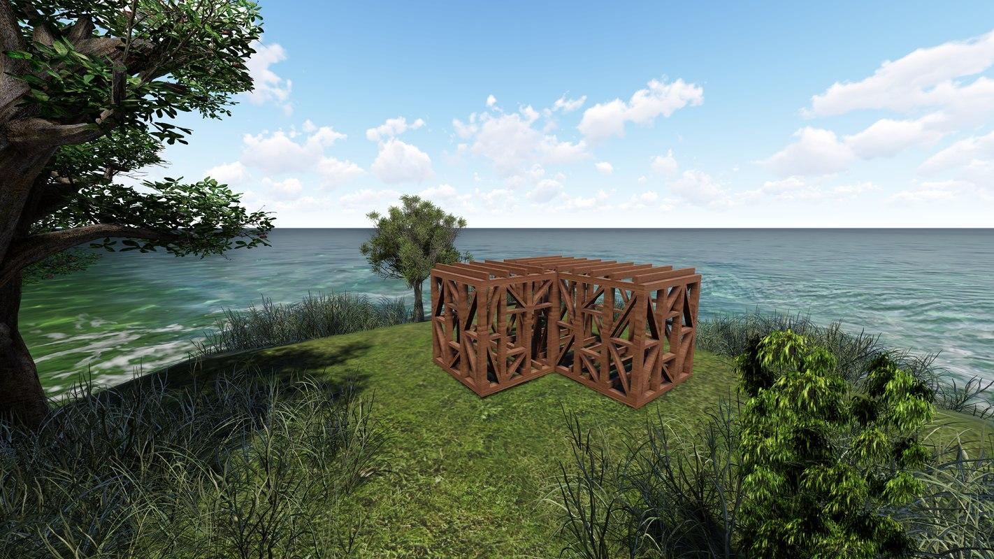 designed architecture 3D model