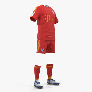 3D soccer uniform bayern