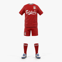 soccer uniform liverpool 3D model