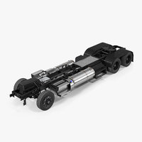 3D truck chassis model