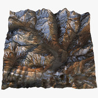 3D andes mountain range